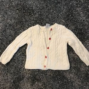 Gymboree White Cotton Sweater/cardigan